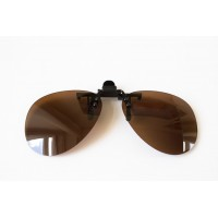 Водительские клипоны на очки, авиатор коричневые
