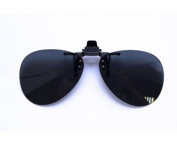 Водительские клипоны на очки, авиатор серые