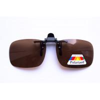 Водительские клипоны на очки, прямоугольные коричневые
